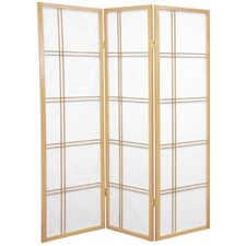 5 Feet Tall Double Cross Shoji Screen in Natural