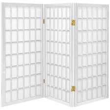 "35.75"" x 72"" Window Pane Shoji 5 Panel Room Divider"