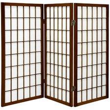 "60"" x 42"" Window Pane Shoji 3 Panel Room Divider"