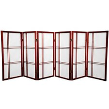 "35.75"" x 86"" Double Cross Shoji 6 Panel Room Divider"
