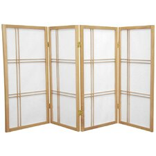 "35.75"" x 57"" Double Cross Shoji 4 Panel Room Divider"