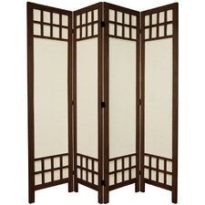 "67"" x 57"" Window Pane 4 Panel Room Divider"