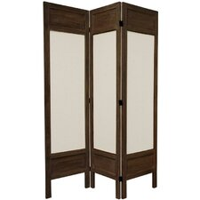 "<strong>Oriental Furniture</strong> 67"" Tall Solid Frame Fabric 3 Panel Room Divider"
