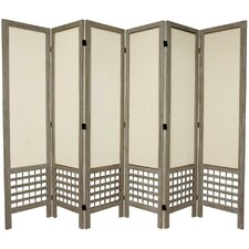 "67"" x 85"" Open Lattice 6 Panel Room Divider"