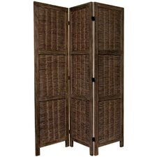 "67"" Tall Bamboo Matchstick Woven 3 Panel Room Divider"