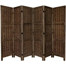 "67"" x 85"" Bamboo Tree Matchstick Woven 6 Panel Room Divider"