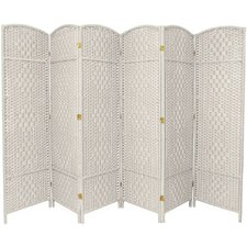 "71"" x 96"" Diamond Weave 6 Panel Room Divider"