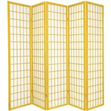 "70"" x 70"" Window Pane 5 Panel Room Divider"