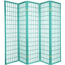 "70"" x 70"" Window Pane 5 Panel Room Divider"