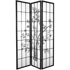 "<strong>Oriental Furniture</strong> 70.25"" x 42"" Lucky Bamboo 3 Panel Room Divider"