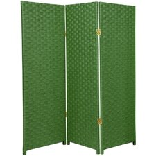 "<strong>Oriental Furniture</strong> 48"" x 48"" Woven Fiber 3 Panel Room Divider"