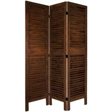 6Feet Tall Classic Venetian Room Divider in Burnt Brown