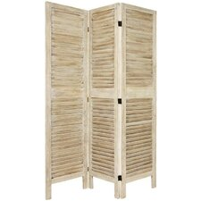 5.5 Foot Tall Classic Venetian Room Divider in Burnt White