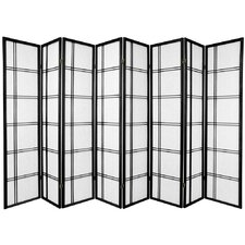 Double Cross Shoji Screen with Eight Panel in Black