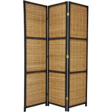 "70.75"" Tall Woven Accent 3 Panel Room Divider"