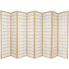 Window Pane Shoji 8 Panel Screen in Natural