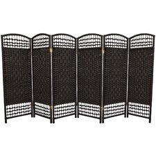 """47.25"""" x 96"""" Fiber Weave 6 Panel Room Divider"""
