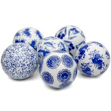 <strong>Oriental Furniture</strong> 6 Piece Decorative Ball Set