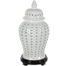 Carved Lattice Temple Decorative Jar