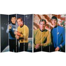 "71"" x 63"" Star Trek Tall Double Sided  Kirk and Spock 4 Panel Room Divider"