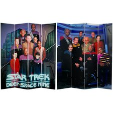 "71"" x 63"" Star Trek Tall Double Sided Deep Space Nine 4 Panel Room Divider"