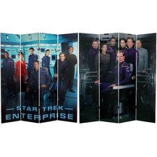 "71"" x 63"" Star Trek Tall Double Sided Enterprise 4 Panel Room Divider"