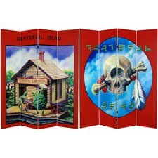"71"" x 63"" Tall Double Sided Grateful Dead Terrapin Station 4 Panel Room Divider"