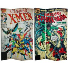 "71"" x 47.25"" Tall Double Sided Spider-Man/X-Men 3 Panel Room Divider"