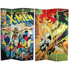 "71"" x 47.25"" Tall Double Sided The Uncanny X-Men 3 Panel Room Divider"