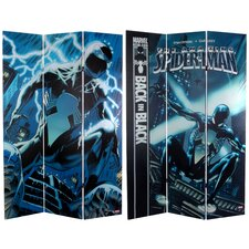 """71"""" x 47.25"""" Tall Double Sided Spider-Man Back 3 Panel Room Divider"""