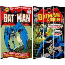 Tall Double Sided Batman Canvas Room Divider