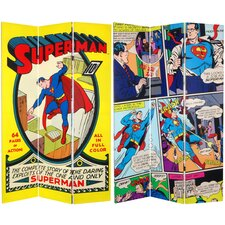"""71"""" x 47.25"""" Tall Double Sided Superman No. 1 3 Panel Room Divider"""