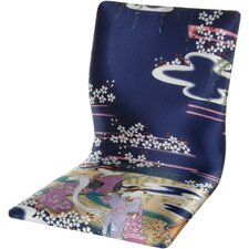 <strong>Oriental Furniture</strong> Tatami Indigo Geisha Meditation Fabric Lounge Chair