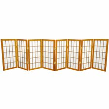 "24"" x 96"" Window Tall Desktop Pane Shoji 8 Panel Room Divider"