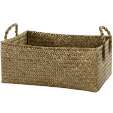 Hand Plaited Basket Bin with Handles (Set of 4)