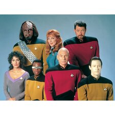 Star Trek Picard, Riker, Data, Worf, LaForge, Crusher, Troi Photographic Print on Canvas
