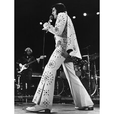 Elvis Presley Las Vegas Jumpsuit Photographic Print on Canvas