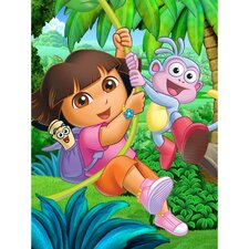 Dora, Boots and Map Canvas Art