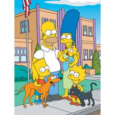 The Simpsons Family School Graphic Art on Canvas