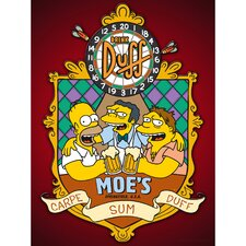 The Simpsons Moe's Tavern Graphic Art on Canvas