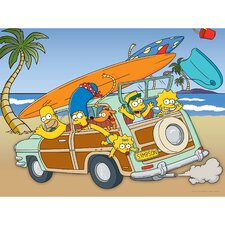 <strong>Oriental Furniture</strong> The Simpsons Family Vacation Wall Art