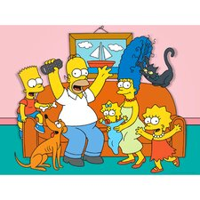 The Simpsons Family Couch Graphic Art on Canvas