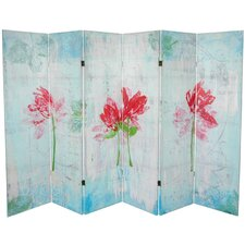 "63"" x 94.5"" Spring Morning 6 Panel Room Divider"