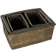Rattan Space Saver Basket (Set of 5)