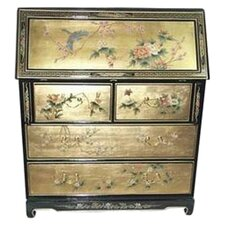 Chinese Gold Leaf Secretary Desk