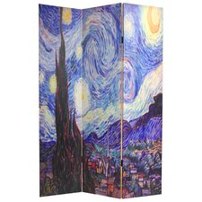 Van Gogh 3 Panel Reversible Canvas Room Divider