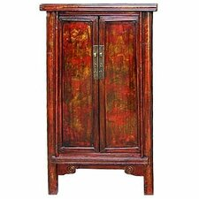 <strong>Oriental Furniture</strong> Chinese Painted Cabinet