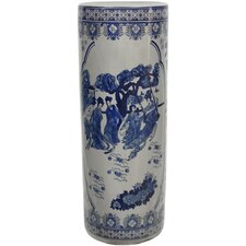 <strong>Oriental Furniture</strong> Ladies Porcelain Umbrella Stand