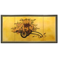 Flower Cart on Gold Leaf Screen