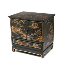 Black Crackle Empress lacquer Jewelry Box